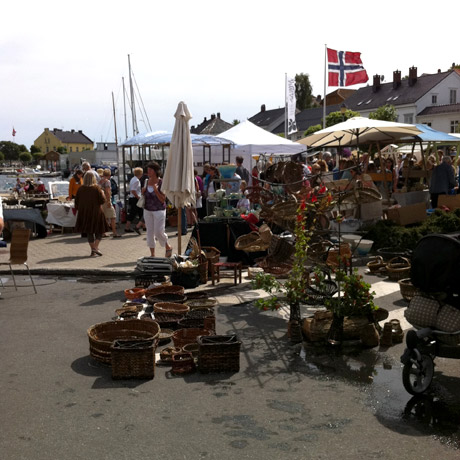 Craft fair in Risør, Norway, July 2011